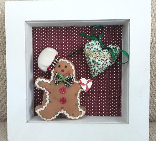 Quadrinho Natal Gingerbread menino