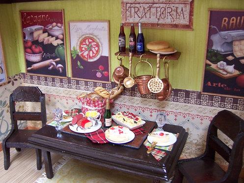 Roombox Miniatura CANTINA ITALIANA 1