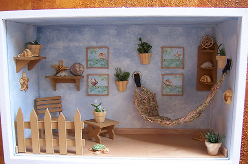 Roombox Miniatura JARDIM PRAIA 1
