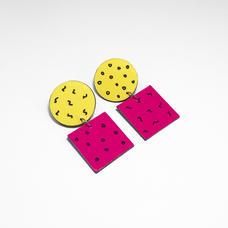 Retro 80s earrings