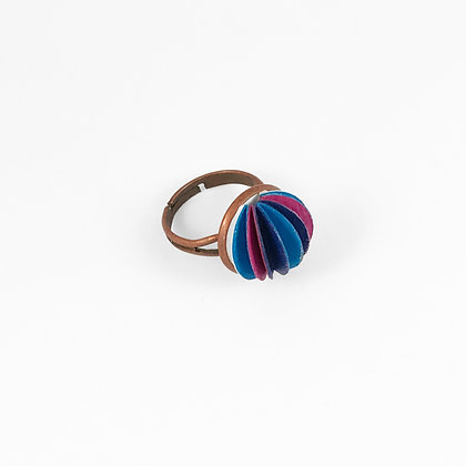 Flutter ring - mixed colours