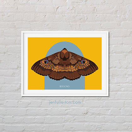 Bogong moth art print