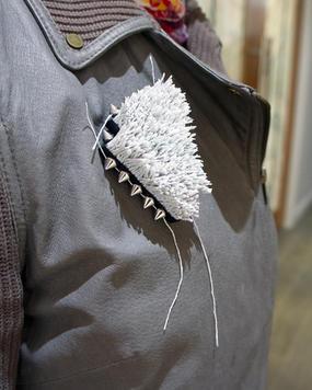 Textured brooch