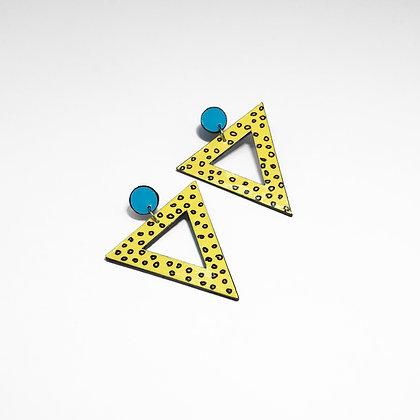 Oversized 80s earrings