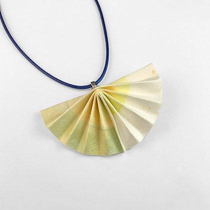 Fan necklace - watercolour