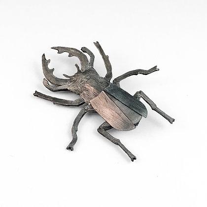 Stag night - beetle brooch