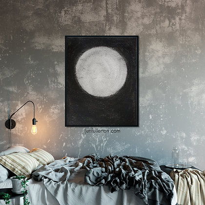 Silent moon – gothic print from original drawing