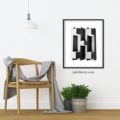 Brutalist II– folded paper image