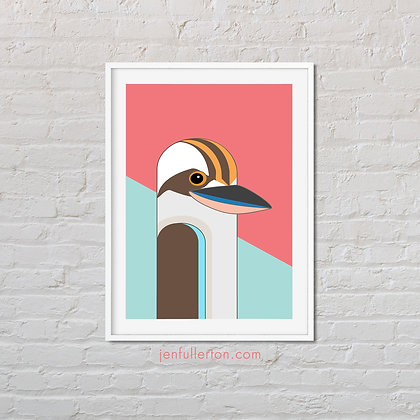 Kookaburra – native Australian bird art