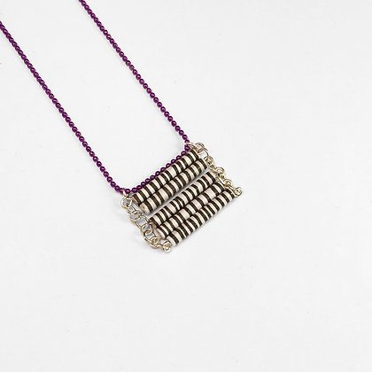 Black, white and purple necklace