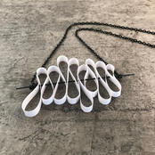 Sine wave necklace