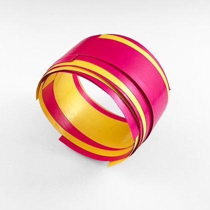 Layered pink and yellow bangle