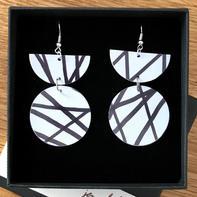 Black and white earrings