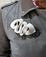 Organic paper brooch