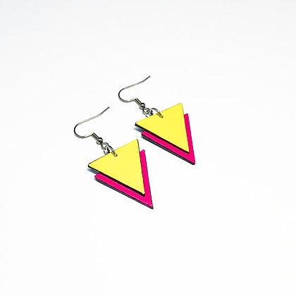 Triangle 80s earrings