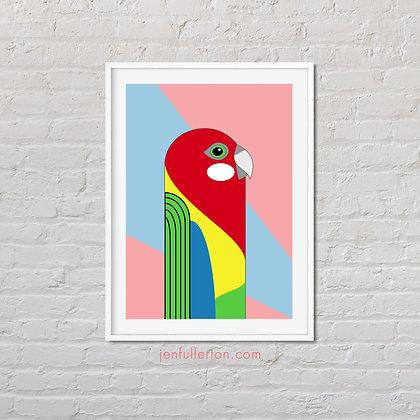 Eastern Rosella – native Australian bird art