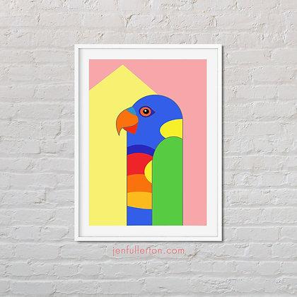 Rainbow Lorikeet – native Australian bird art