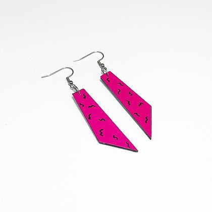 Retro 80s tie earrings