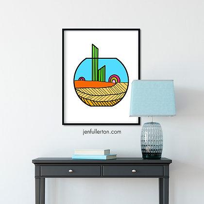 Terra – colourful digital art print