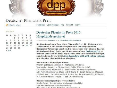 Deutscher Phantastik Preis 2016