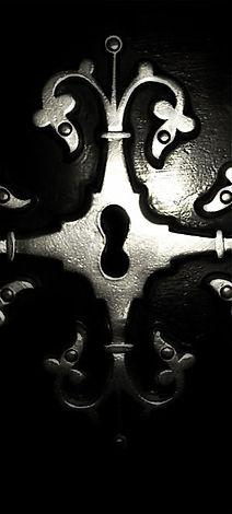 Ich schaue durch ein Schlüsselloch