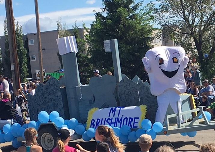 Mt. Brushmore Dental Parade Float