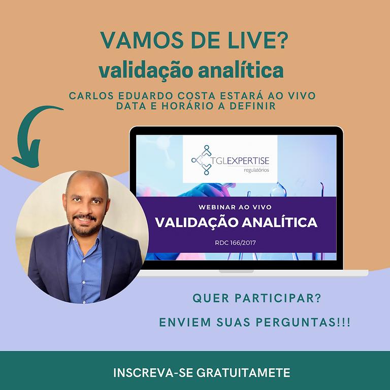 LIVE - VALIDAÇÃO ANALÍTICA
