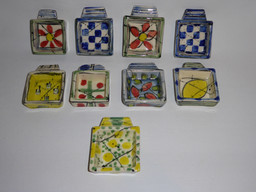 tiny square dishes