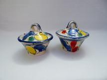 sugar bowls/ jam pots