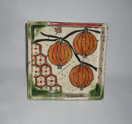 square,footed slab dish