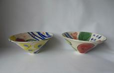 cone bowls -upside down