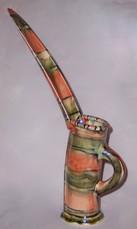 slab built-long spouted jug