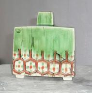 footed slab bottle vase