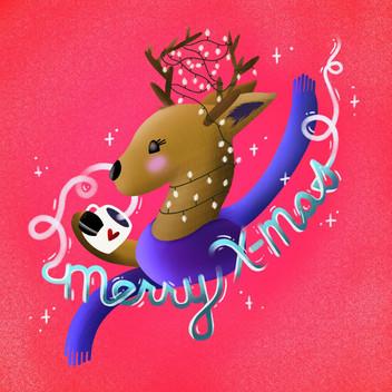 Merry X-mas Reindeer