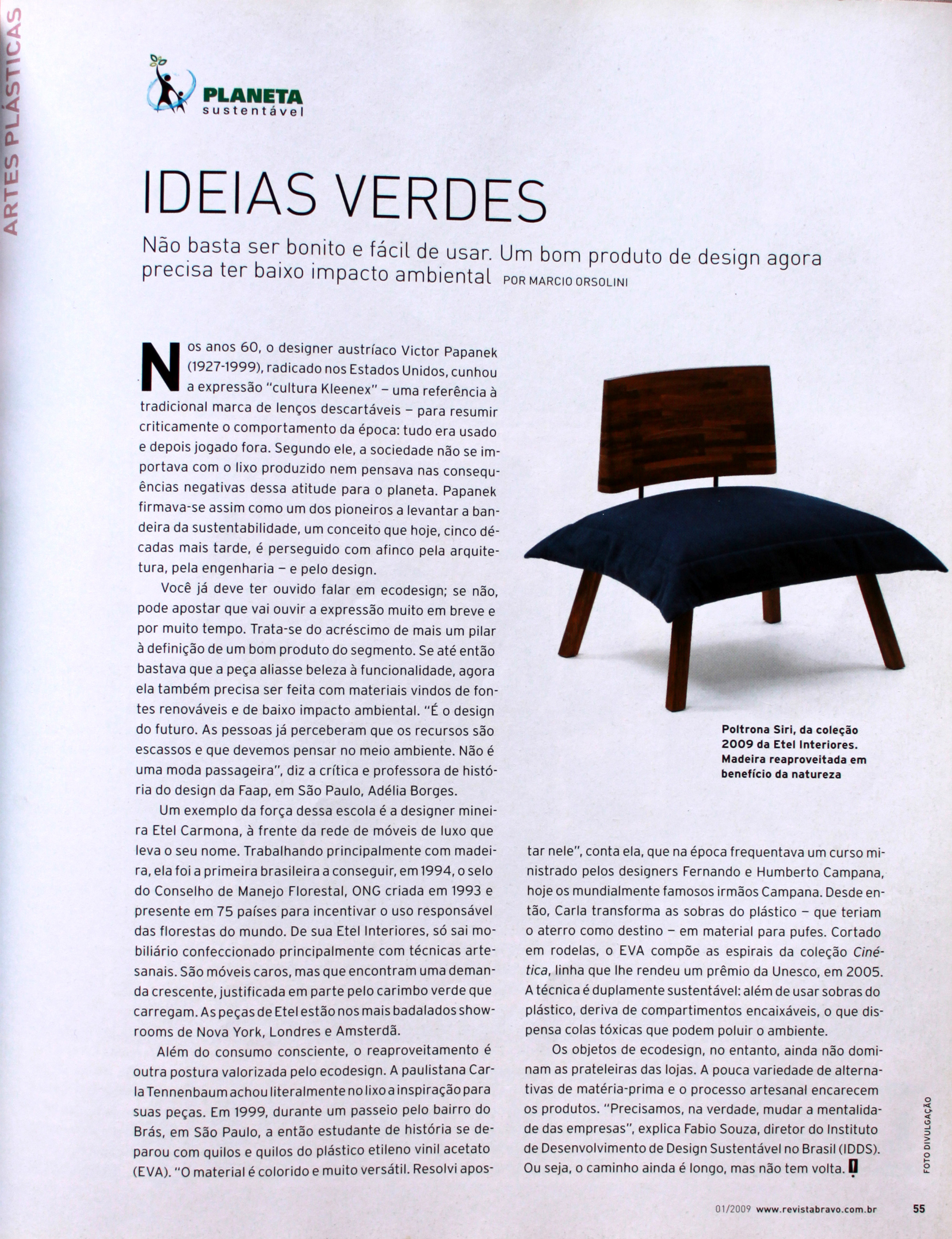 Ideias Verdes - Revista Bravo