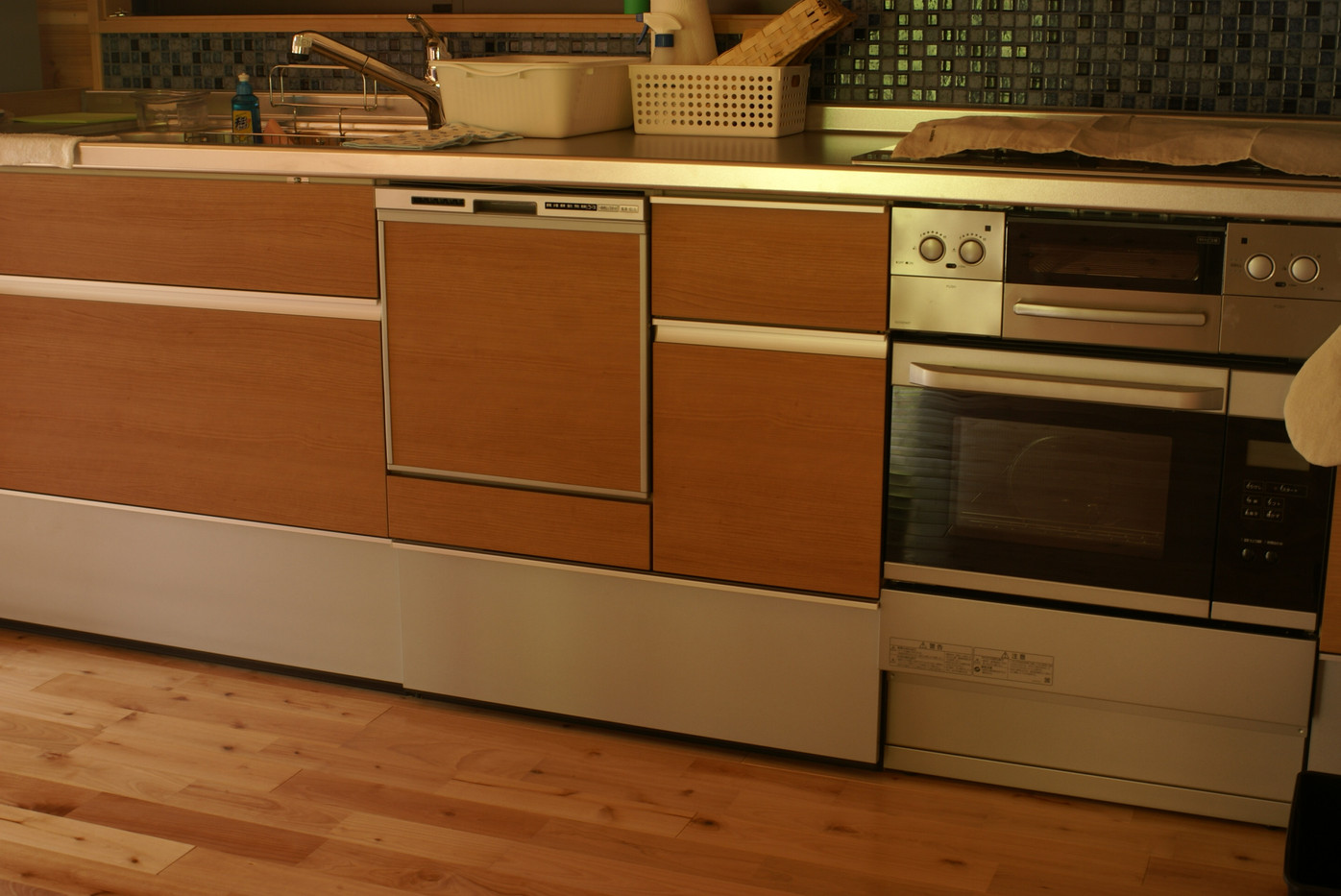 Fitted kitchen, oven, range and dishwasher