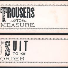 Tailor Shop Signs