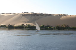 Arabische Wüste am Nil