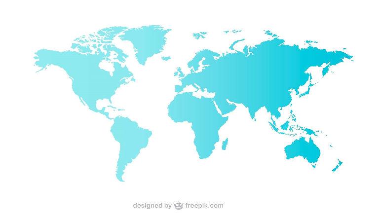 Weltkarte mit Reisezielen