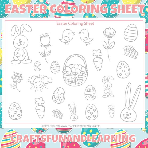 Free Printable Easter Coloring Sheet