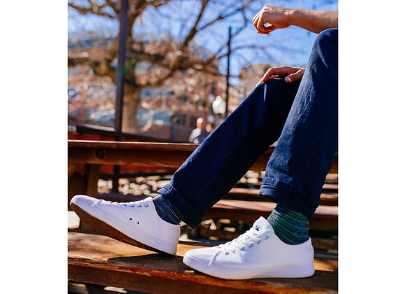 Unisex True to the Size All White Canvas Sneakers Casual Shoes