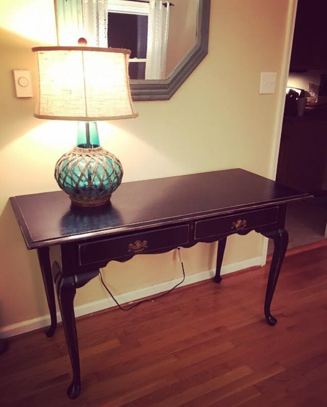Gorgeous Elegant Black Console Table, also would be great for a desk ❤️