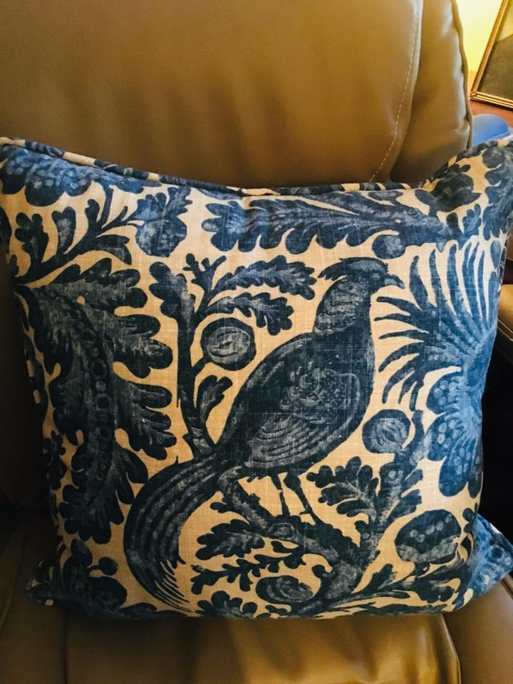 Blue Bird Pillow