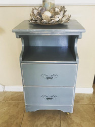 """Sweet French Gray Nightstand or Accent Table 28""""h 16""""w 11.5""""d"""