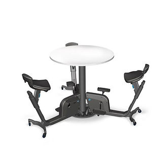 Solo Under Desk Cycle with table for 3.j
