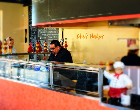 Chef Nader Hagez at Four Brothers Bistro and Grill, Richmond VA. VCU location.