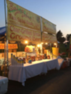 Nader's Events festival set up for catering