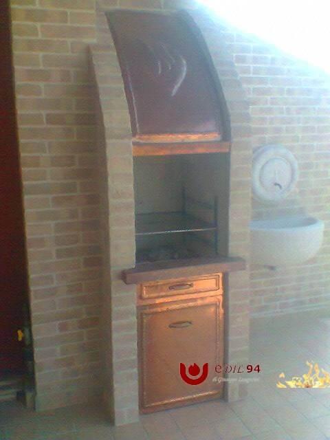 Barbecue mattoni rame 1