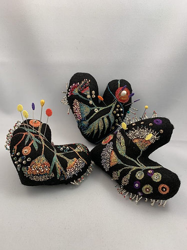 In-Person Class, Saturday, Oct 19, 2019: Felted Beaded Pin Cushion