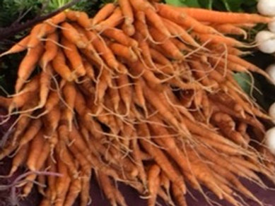 Carrots, certified organic